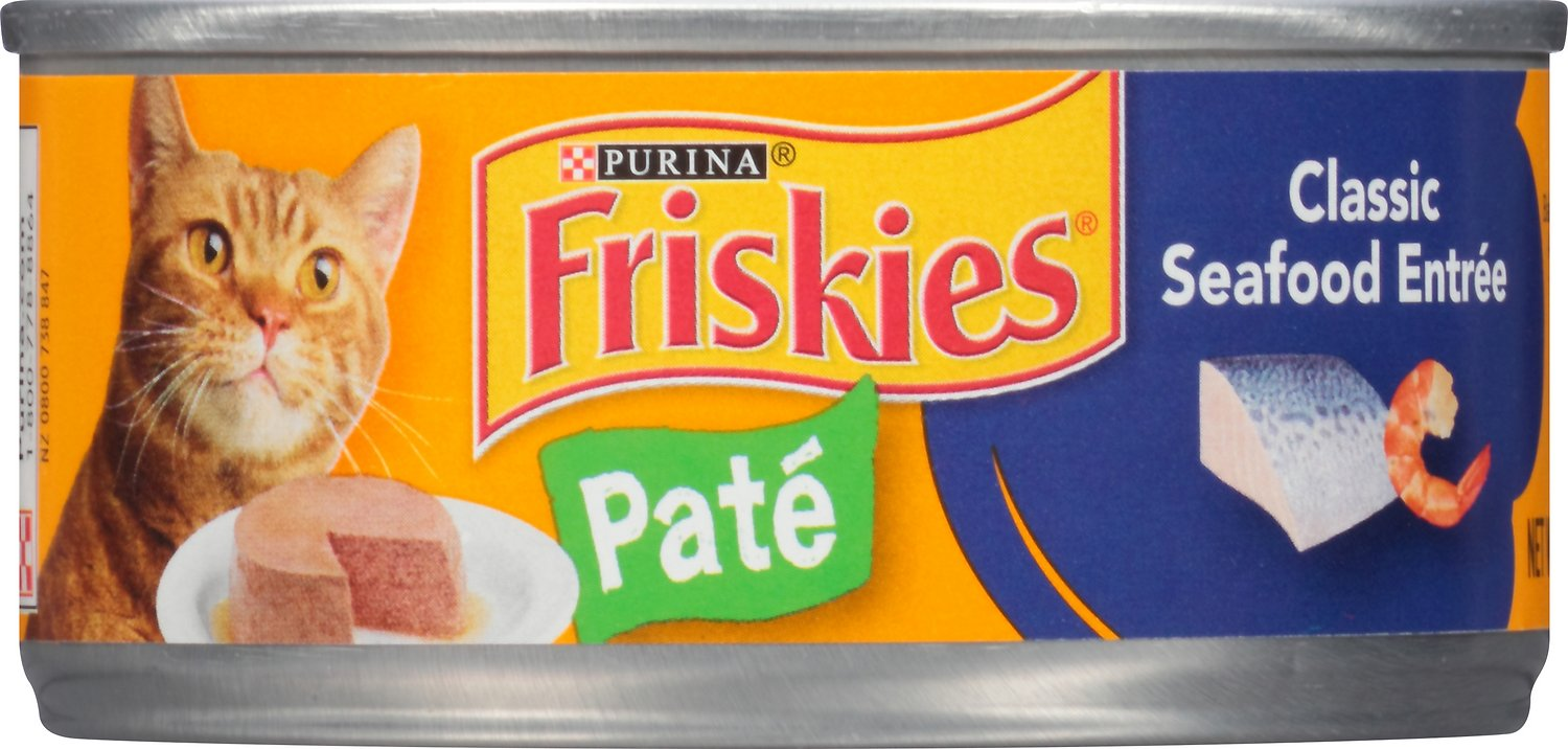 Friskies Classic Pate Classic Seafood Entree Canned Cat Food,  5.5-oz