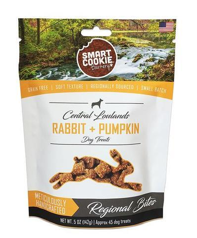 Smart Cookie Barkery Regional Bites Rabbit + Pumpkin Dog Treats, 5-oz