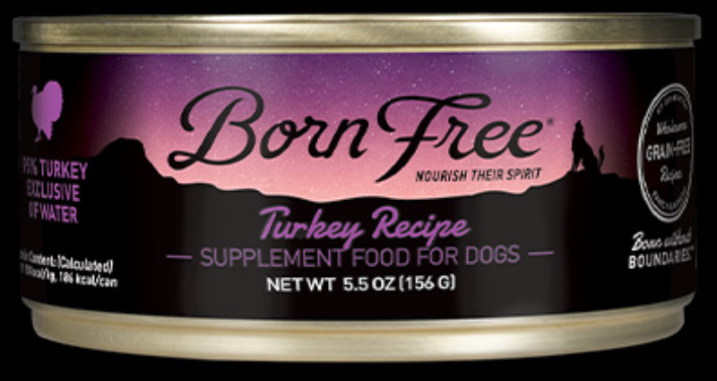 Born Free Turkey Canned Dog Food