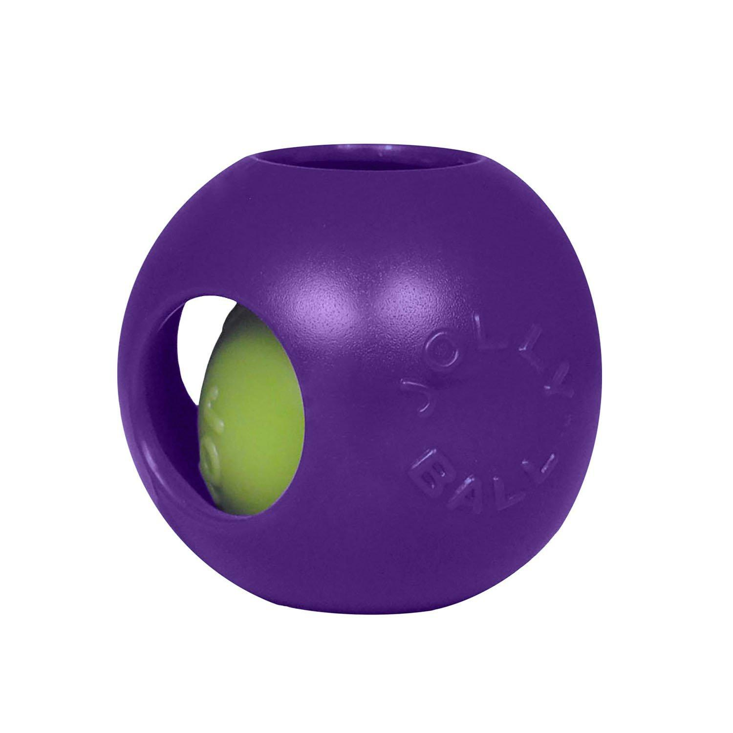 Jolly Pets Teaser Ball Dog Toy, Purple, 10-in