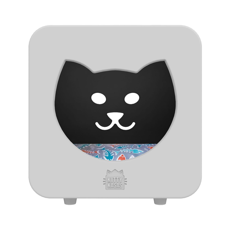 Kitty Kasas Bedroom Cube Standard Snap-On Cat House, White