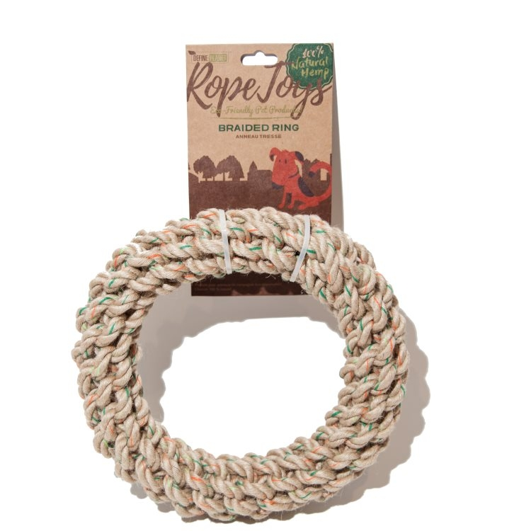 Define Planet H Braided Ring Rope Dog Toy, Large
