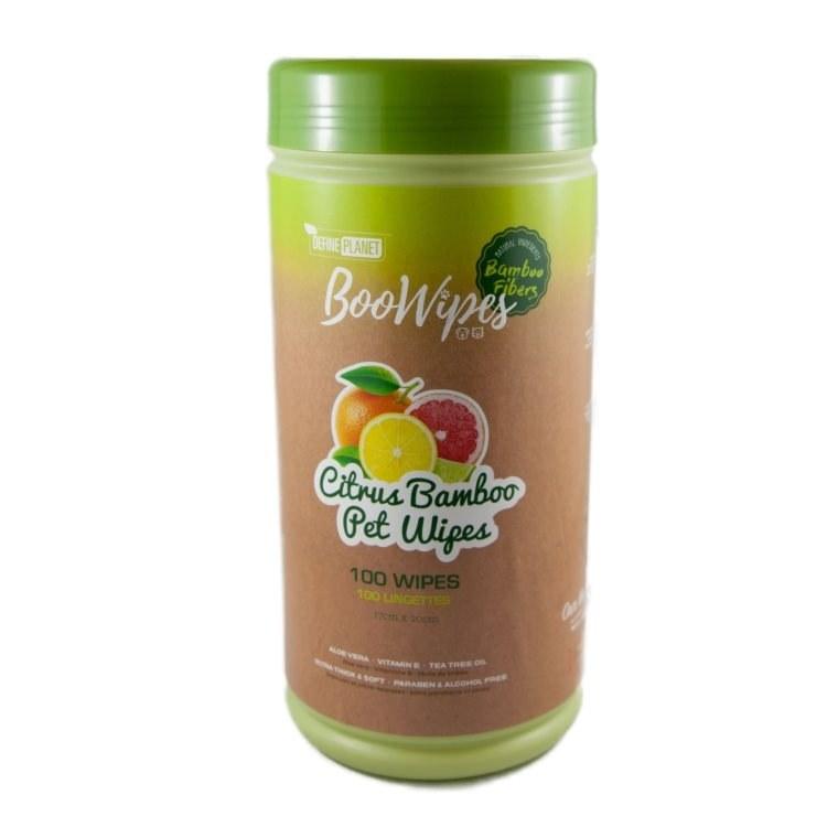 Define Planet Bamboo Fiber All Purpose BooWipes, Citrus, 50-count