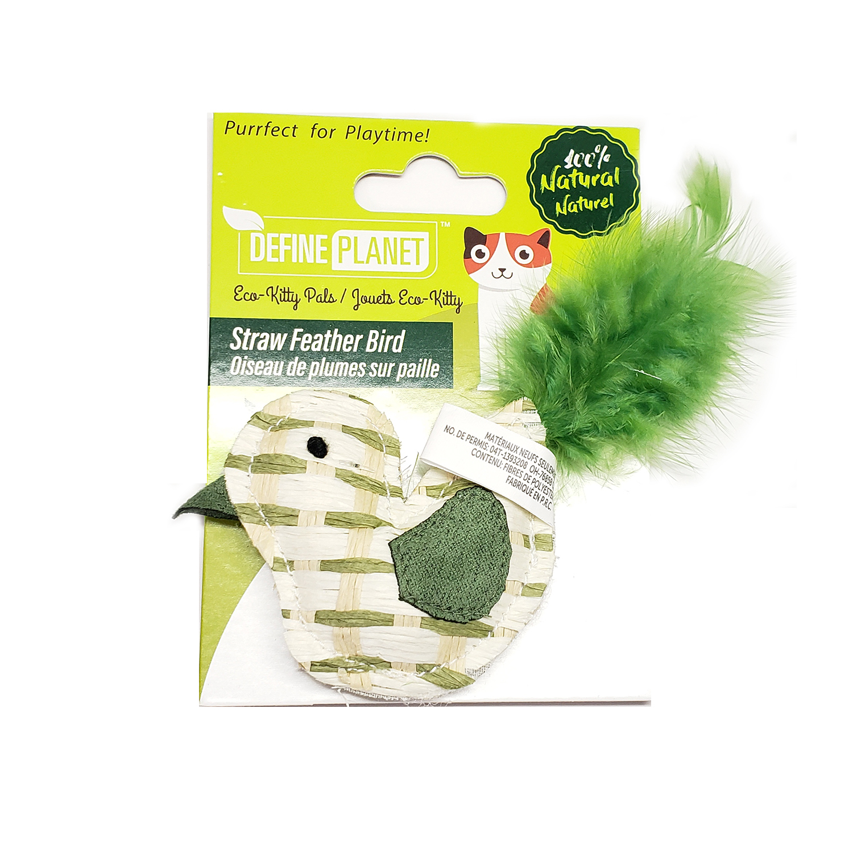 Define Planet Straw Feather Bird Cat Toy