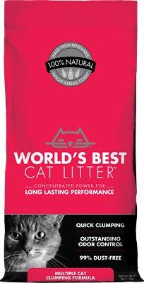 World's Best Cat Litter Multiple Cat Clumping Cat Litter, 28-lb bag