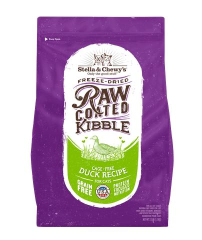 Stella & Chewy's Raw Coated Kibble Cage-Free Duck Dry Cat Food, 2.5-lb