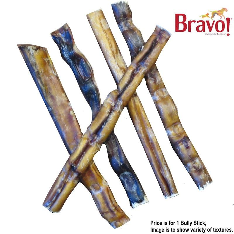 Bravo Extra Thick Bully Stick Dog Treats, 12-in