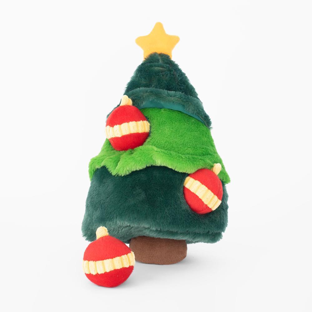 ZippyPaws Holiday Burrow Christmas Tree Dog Toy