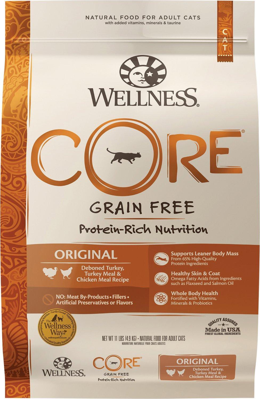 Wellness CORE Original Formula Grain-Free Dry Cat Food, 11-lb