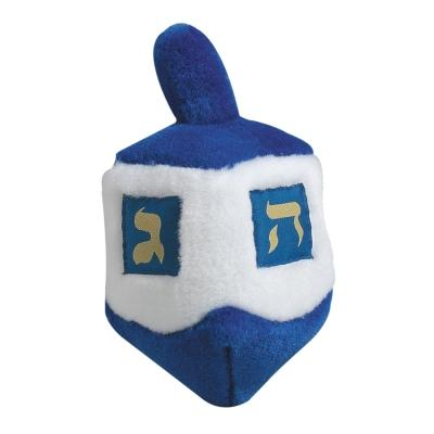 Multipet Hanukkah Dreidel Toy, 6.5-in