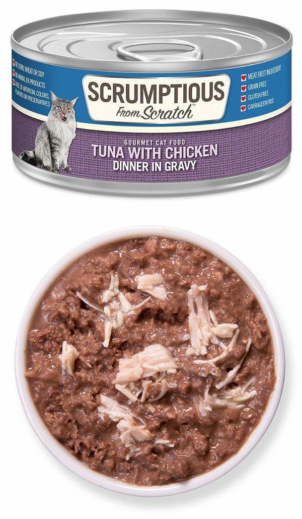 Scrumptious From Scratch Tuna with Chicken in Gravy Wet Cat Food, 2.8-oz