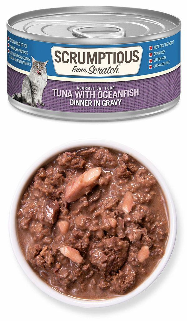 Scrumptious From Scratch Tuna with Oceanfish in Gravy Wet Cat Food, 2.8-oz