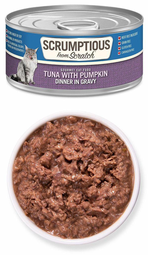 Scrumptious From Scratch Tuna with Pumpkin in Gravy Wet Cat Food, 2.8-oz