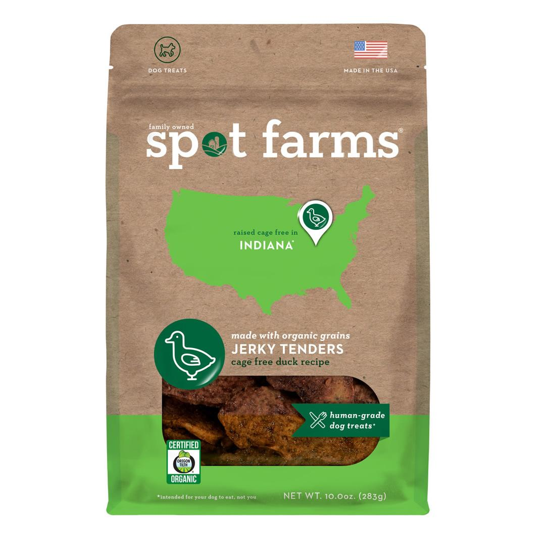 Spot Farms Organic Duck Tenders Dog Treats, 10-oz
