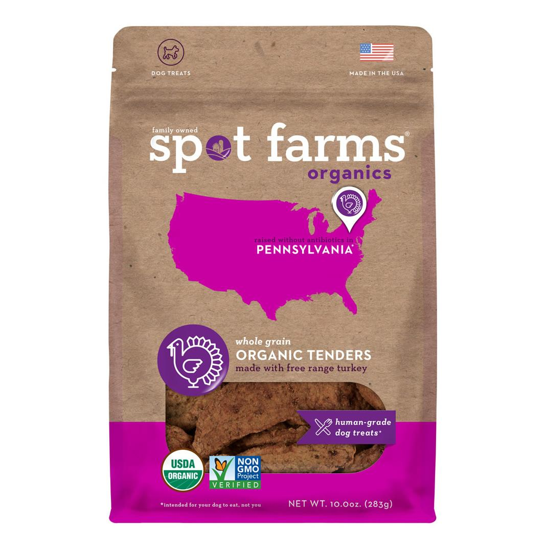 Spot Farms Organic Turkey Tenders Dog Treats, 10-oz