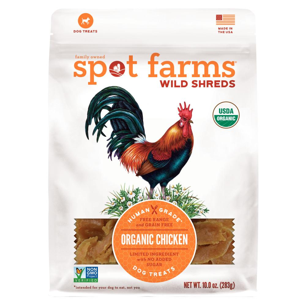 Spot Farms Wild Shreds Organic Chicken Dog Treats, 10-oz