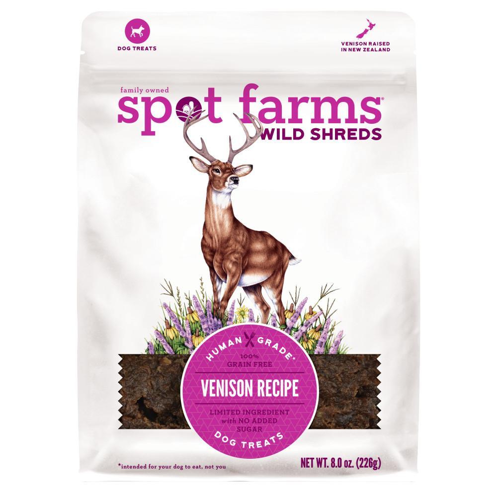 Spot Farms Wild Shreds Venison Dog Treats, 8-oz