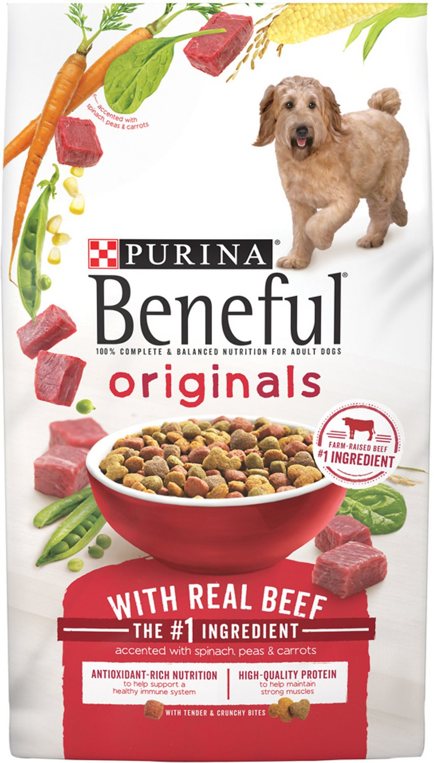 Purina Beneful Originals with Real Beef Dry Dog Food, 28-lb