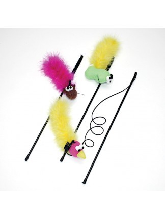 Ethical Pet Spot Feather Boa Teaser with Wand & Catnip Cat Toy
