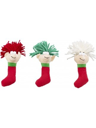 Ethical Pet Spot Holiday Wooly Elf with Catnip Cat Toy, Character Varies