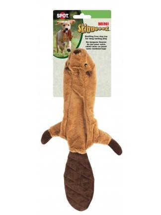 Ethical Pet Spot Mini Skinneeez Beaver Dog Toy, 14-in
