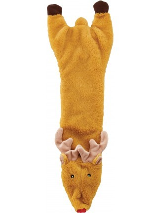Ethical Pet Spot Holiday Skinneeez Crinkler Reindeer Dog Toy, 14-in