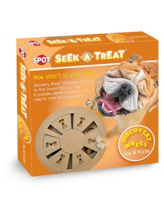 Ethical Pet Spot Seek-A-Treat Discovery Wheel Puzzle Dog Toy Image