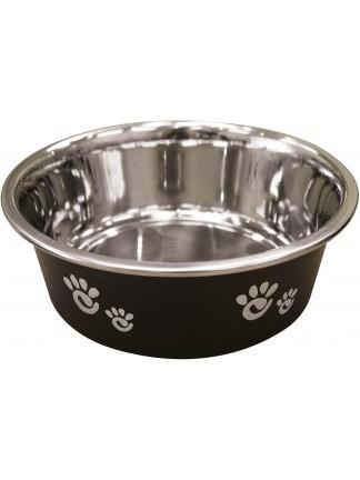 Ethical Pet Spot Barcelona Dog Bowl, Matte Licorice Image