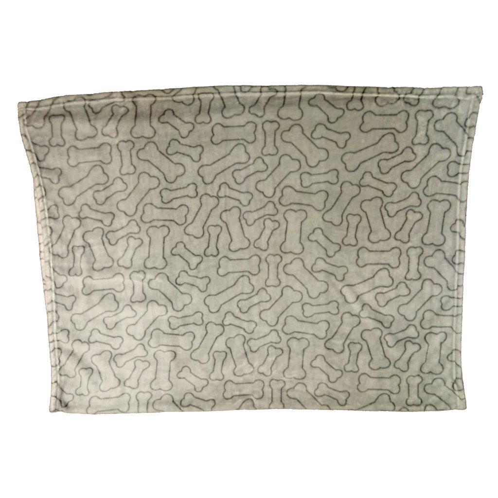 Ethical Pet Spot Snuggler Bones Dog Blanket, Gray Image
