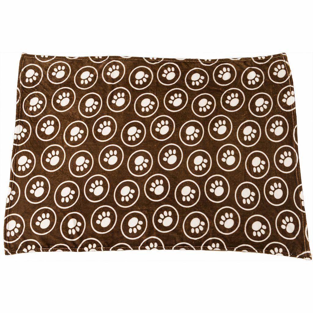 Ethical Pet Spot Snuggler Paws/Circle Dog Blanket, Chocolate Image