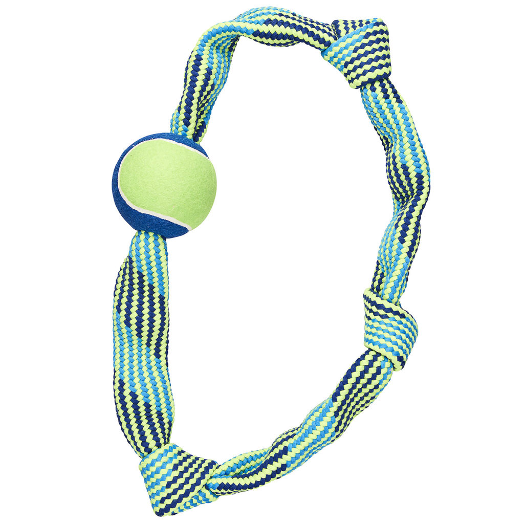 Ethical Pet Spot Colorful Rope Knot Ring Dog Toy, 23-in