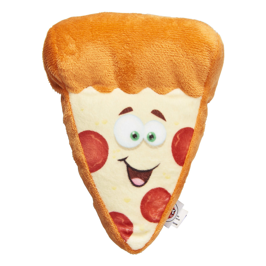 Ethical Pet Spot Fun Food Pizza Dog Toy, 6.5-in