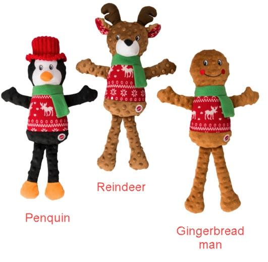 Ethical Pet Spot Holiday Sweater Toy Plush, Character Varies, 18-in
