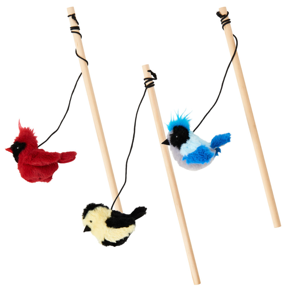 Ethical Pet Spot Songbird Teaser Wand Dog Toy, Color Varies Image