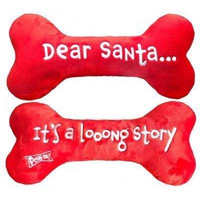 Lulubelles Power Plush Dear Santa Bone Dog Toy
