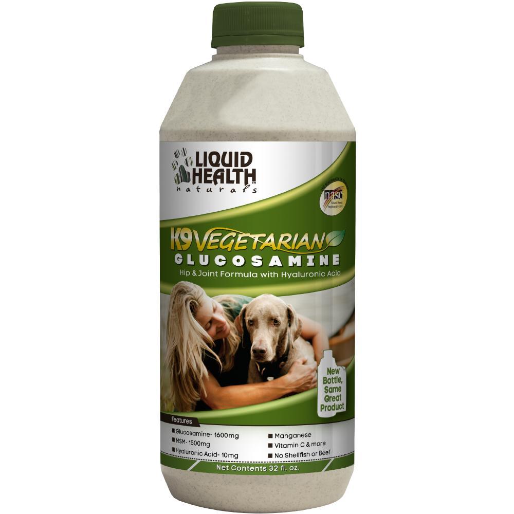 Liquid Health K9 Vegetarian Glucosamine Hip & Joint Dog Supplement, 32-oz
