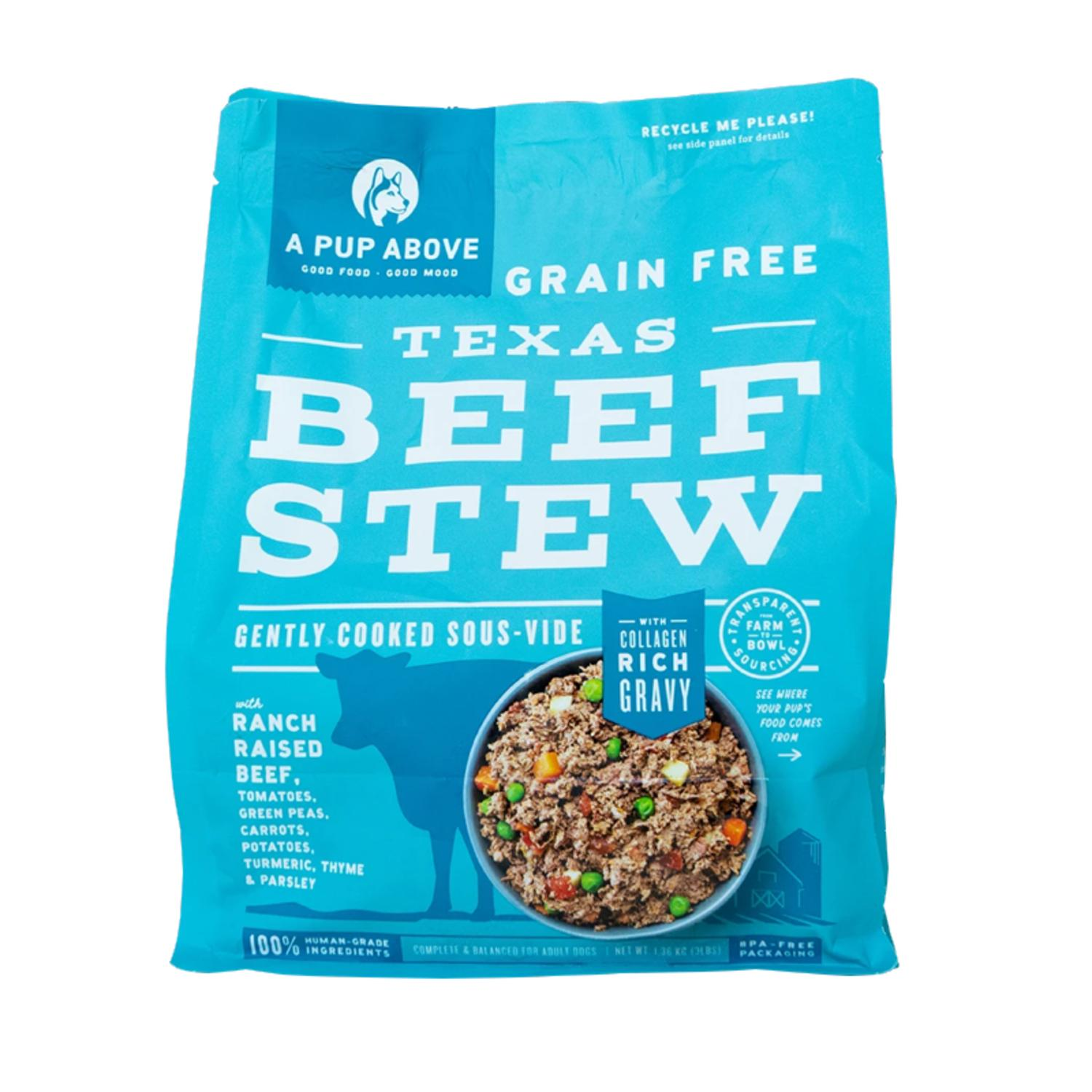 A Pup Above Texas Beef Stew Grain-Free Frozen Dog Food, 3-lb