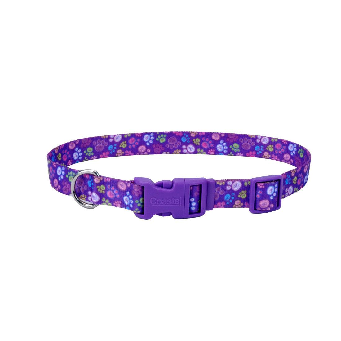 Styles Adjustable Dog Collar, Special Paws, 5/8-in x 10-in-14-in