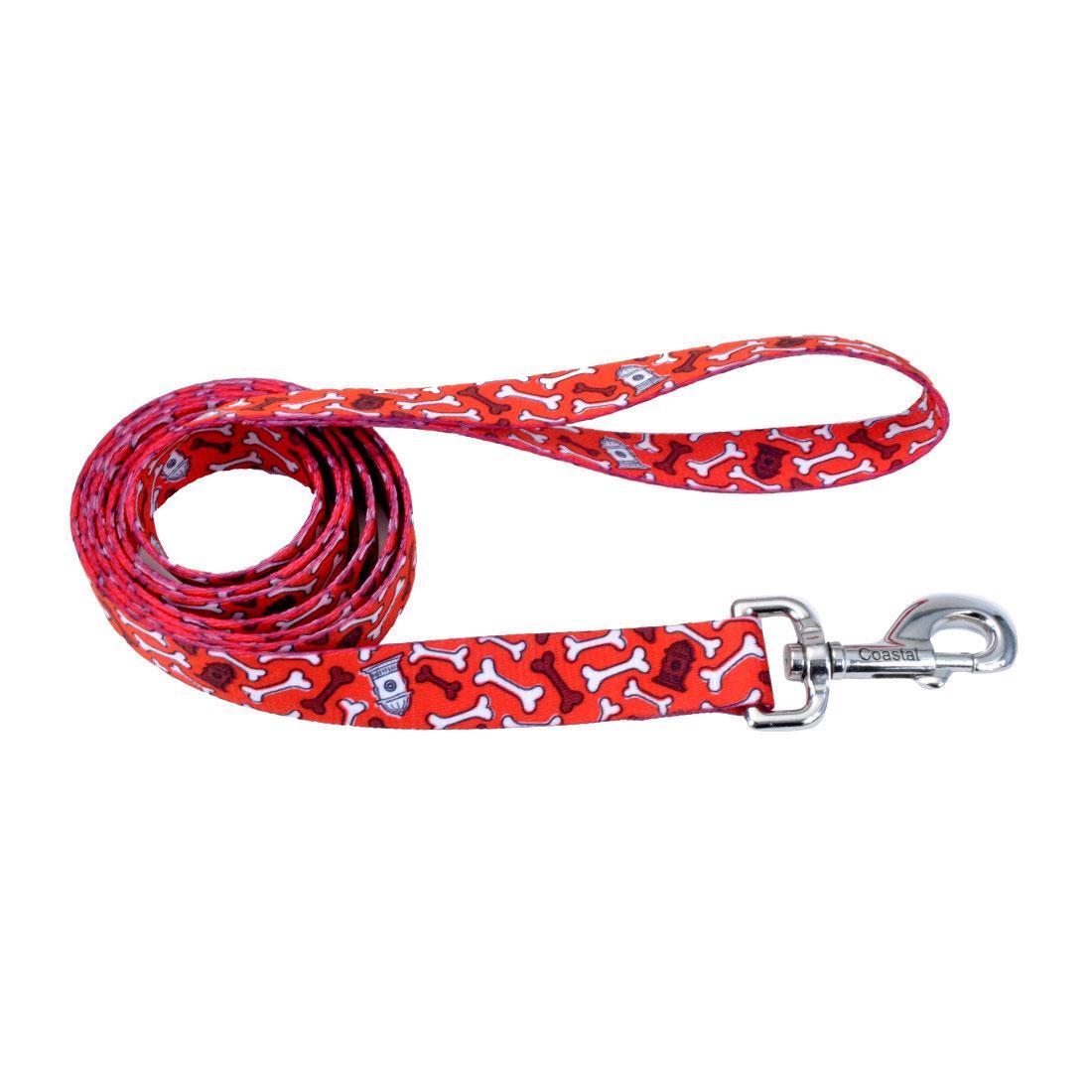 Styles Dog Leash, Red Bones Image