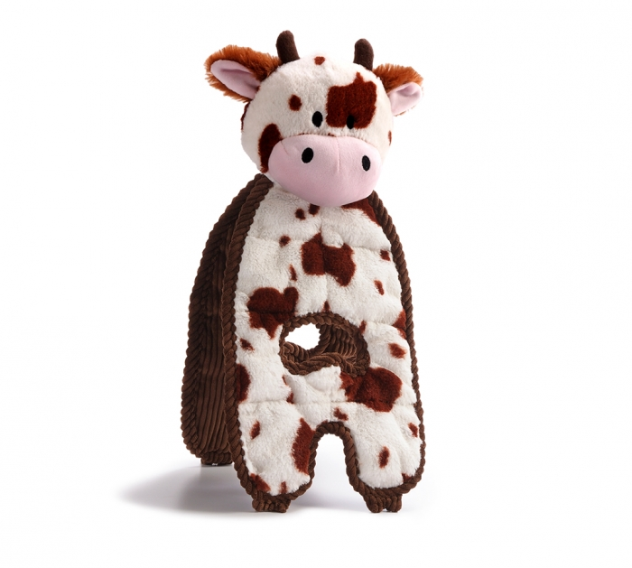 Charming Pet Cuddle Tugs Cow Dog Toy Image