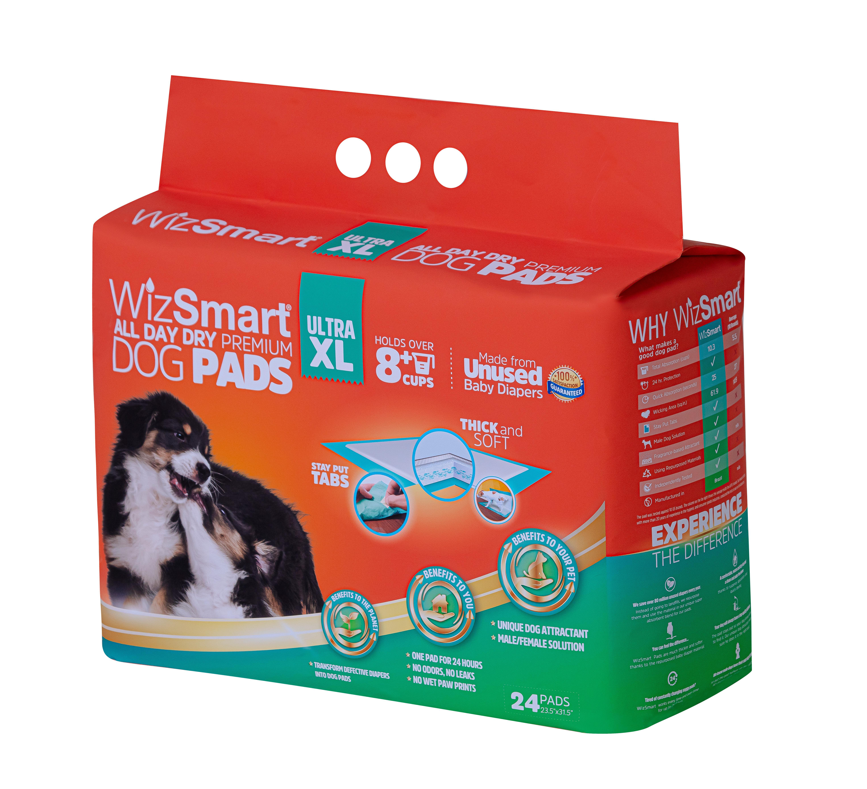 Wizsmart Ultra XL Dog Pad, 24-count