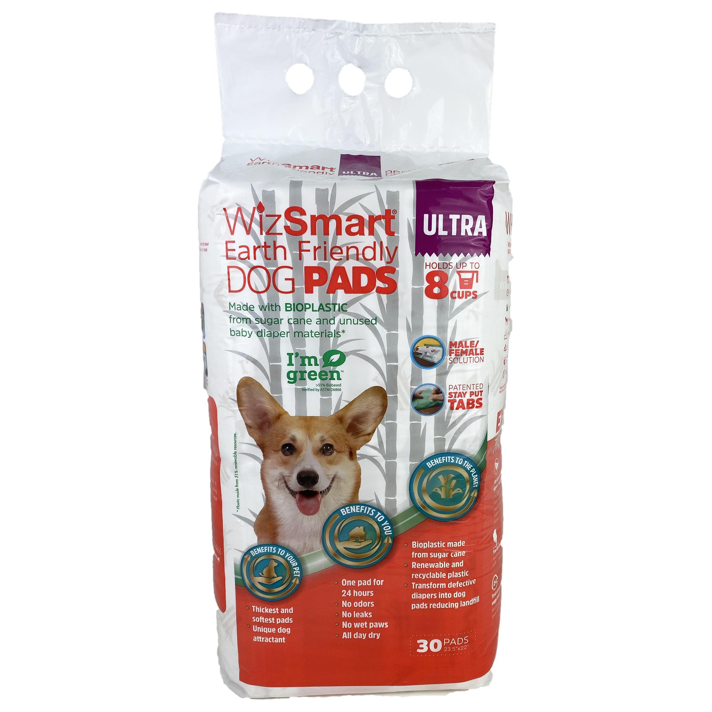 Wizsmart Earth Friendly Ultra Dog Pad, 30-count
