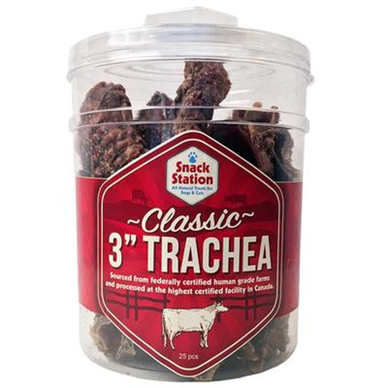 This & That Snack Station Beef Trachea Dog Treats, 3-in