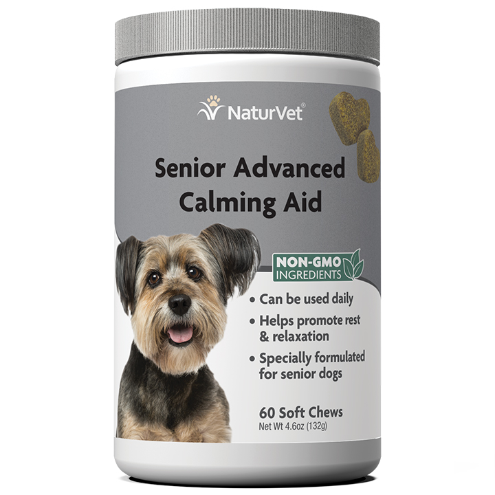NaturVet Senior Wellness Calming Aid Soft Chew for Dogs, 60-count