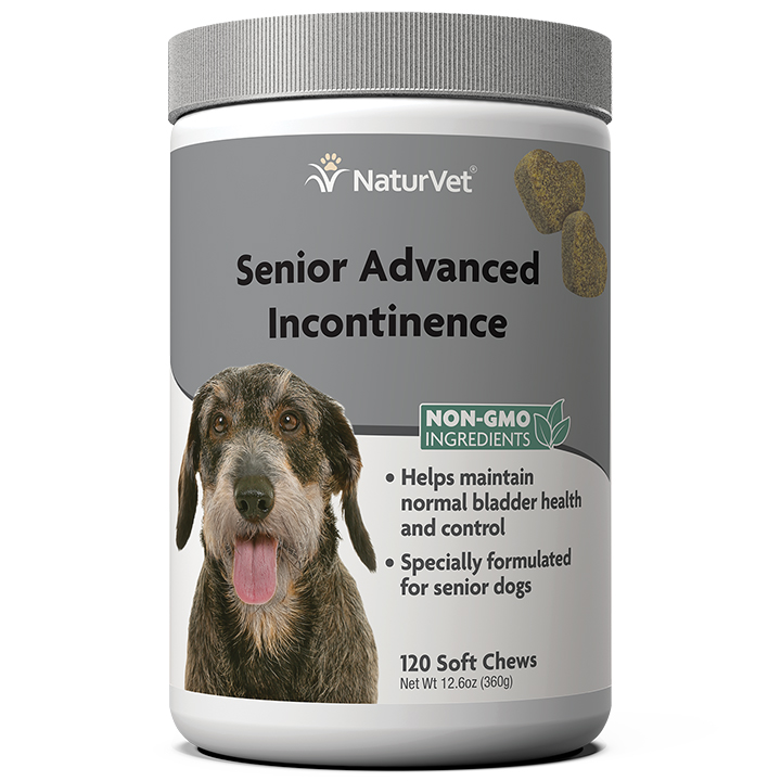 NaturVet Advanced Incontinence Senior Soft Chew for Dogs, 120-count