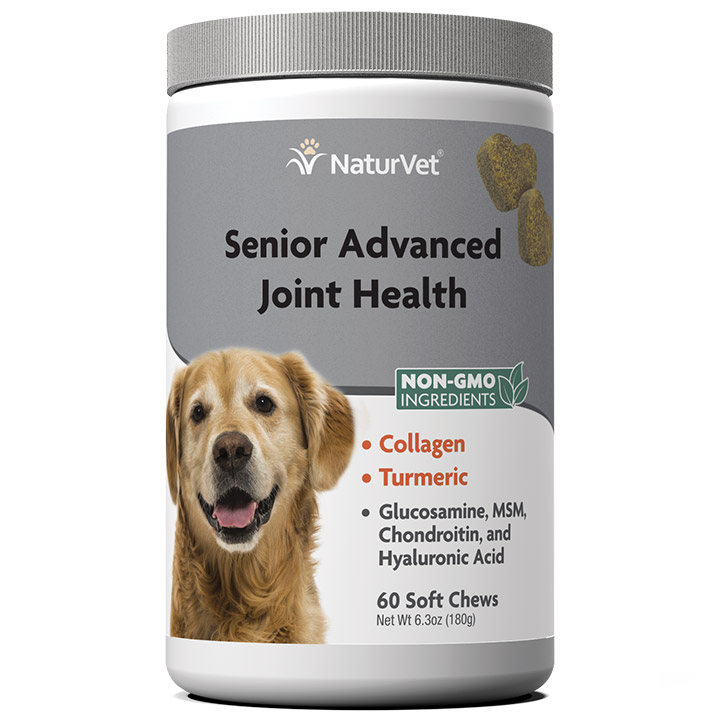 NaturVet Senior Advanced Joint Health Soft Chews for Dogs, 60-count