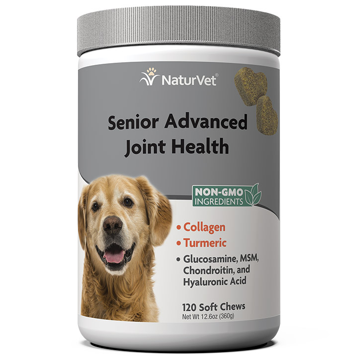 NaturVet Senior Advanced Joint Health Soft Chews for Dogs, 120-count