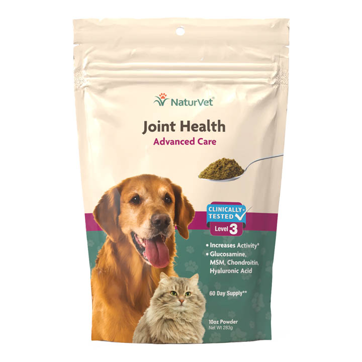 NaturVet Joint Health Level 3 Powder for Dogs & Cats, 60-count