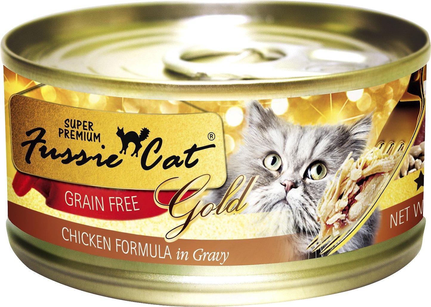 Fussie Cat Super Premium Chicken Formula in Gravy Grain-Free Canned Cat Food, 5.5-oz