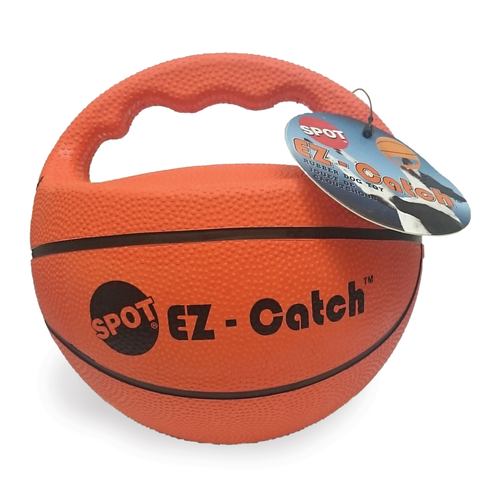 Ethical Pet EZ Catch Basketball Dog Toy, 6-in